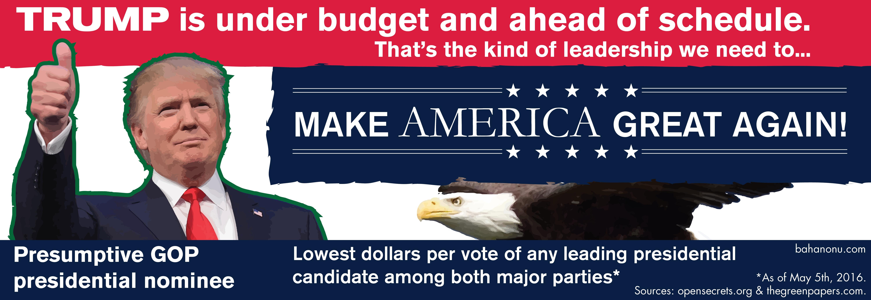 Donald J. Trump Campaign Poster 2016 No. 2